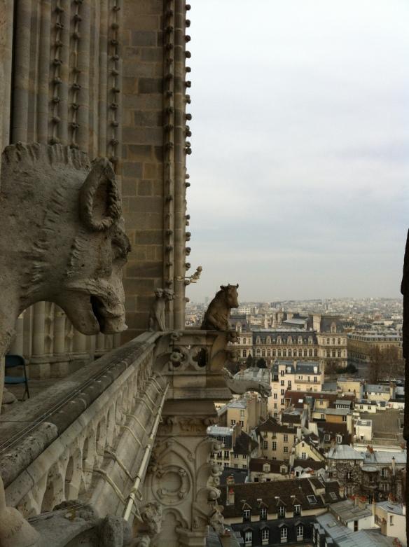 Bestiaire du clocher de Notre-Dame, visite le vendredi 22 mars, zone fermée au public...