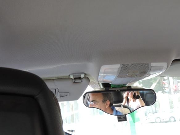 Dans le taxi à Tel Aviv